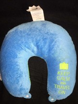 Neck Pillow U Shaped Micro Beads Travel Head Rest keep calm and travel o... - $3.95