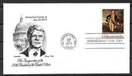 1977 Jimmy Carter Inauguration Day Cover Washington Postmark