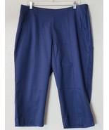 New TAIL Active Wear Lake Blue Capri Pants Size 12 Classic Fit Comfort M... - $47.46