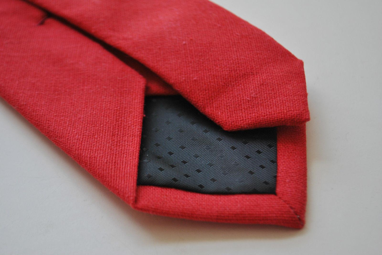 Frederick Thomas Skinny unirot Leinen Krawatte ft1907