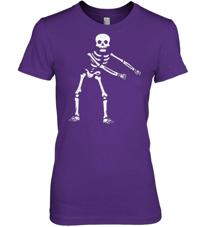 Flossing Skeleton Funny Halloween Lover Floss Tshirt