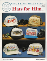 Counted Cross Stitch Pattern Booklet-Cross My Heart-HATS For HIM-Christm... - $5.86