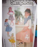 Simplicity 7269 Girls Skirts Poodle Sz 7-10 Uncut Sewing Pattern Skirts in 3 len - $4.99