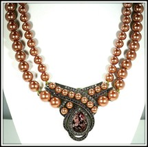 "HEIDI DAUS ""AN INTERESTING TWIST"" 2-STRAND BEADED DROP NECKLACE - $79.99"