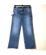 Silver Jeans Womens 26 Wide Leg Cropped Distressed High Rise - $79.19