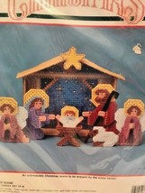 Bucilla Christmas Nativity Manger Scene Set of 8 Plastic Canvas Kit New 1990 - $38.79
