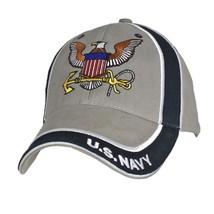 U.S. Navy U.S. Navy Dark Navy & Grey With Navy Insignia Baseball Cap Hat - $29.99