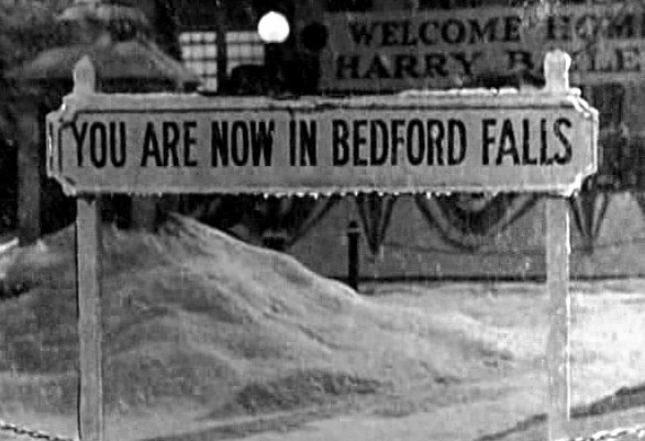 You are now in bedford falls sign magnet