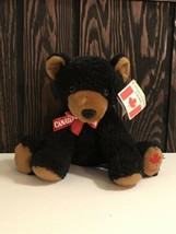 "Wild Wonders by Northern Gifts 7"" Sitting Black Bear Canada Beanie Plush... - $10.88"