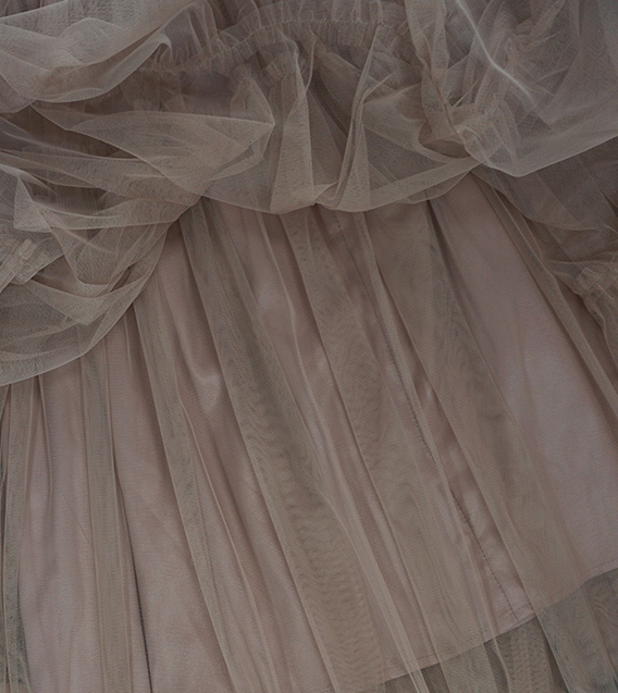 Adult Bridesmaid Tiered Tulle Skirt, Nude Pink Tulle Skirt with Belt,Photo Shoot