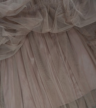 Adult Bridesmaid Tiered Tulle Skirt, Nude Pink Tulle Skirt with Belt,Photo Shoot image 2