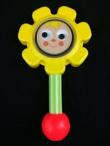 Vintage 1973 Fisher Price Flower Baby Rattle Toy Made In USA - $7.69