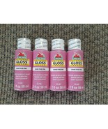 NEW Lot GLOSS Acrylic Craft Paint Pure Pink 2 fl. oz. each (8 oz. total) - $15.87