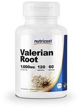 Nutricost Valerian Root Capsules 1000mg Per Serving 120 Capsules - Veggie Caps,