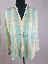 Anthropologie Holding Horses 4 Tiby button down blouse pastel color long... - $27.72