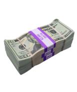$6,000 - $20 Full Print Aged Fake Bills Bundle Poker Game Prank Music Vi... - $29.99