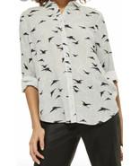 TOPSHOP BIRDS & CLOUDS BUTTON DOWN SHIRT NEW - $28.99