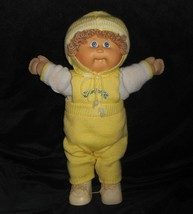 VINTAGE 1982 CABBAGE PATCH KIDS BABY DOLL BLONDE HAIR ONE TOOTH STUFFED ... - $43.53