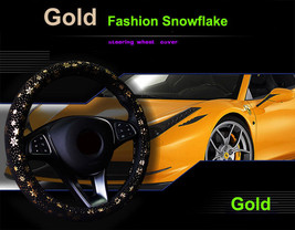 Car Gold Shiny Snowflake Steering Wheel Cover Anti-slip Cute Car Styling... - $18.68