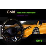 Car Gold Shiny Snowflake Steering Wheel Cover Anti-slip Cute Car Styling... - $18.68