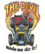 Devil Made Me Do It Darryl Makenzie Garage Man Cave Automotive Retro Met... - $29.95