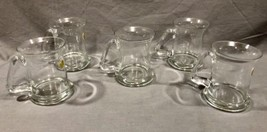 5 Vintage Glass Tankards Mugs Danish Modern Design Made In Romania - $59.39