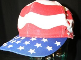 Red White Blue Stripes embroidered stars Flag Strapback July 4 BBQ Dad cap hat - $24.95
