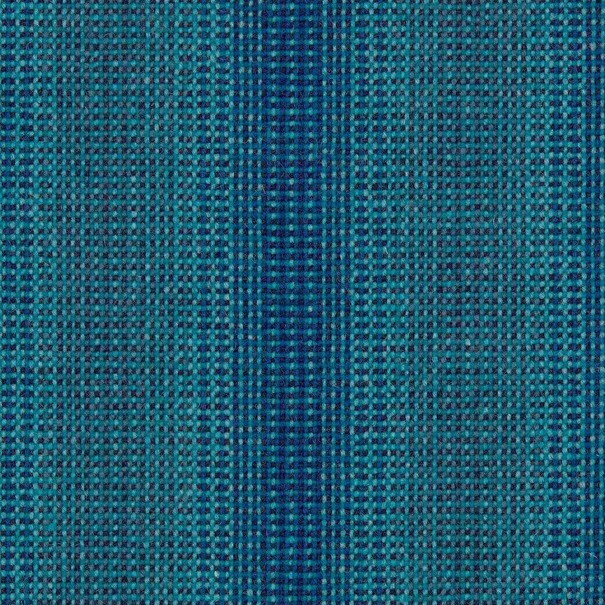 Maharam Tappezzeria Tessuto Lana Striae Blu Acqua 466184–006 1.1m M GW
