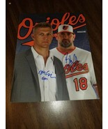 Brandon Hyde & Mike Elias Autographed Program 2019 Magazine BALTIMORE OR... - $25.73