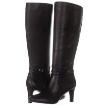 Lauren Ralph Lauren Elberta Knee High Boots 013, Black, 7 US / 38 EU - $54.71
