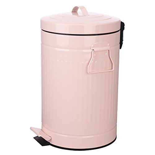 bathroom trash can with lid, pink bathroom garbage can