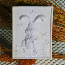 Bunny and the Butterfly-Detail of high relief sculpture,silicone mold,so... - $26.73
