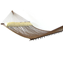 Sunnydaze Polyester Rope Hammock with Spreader Bars and Pillow - $89.85+
