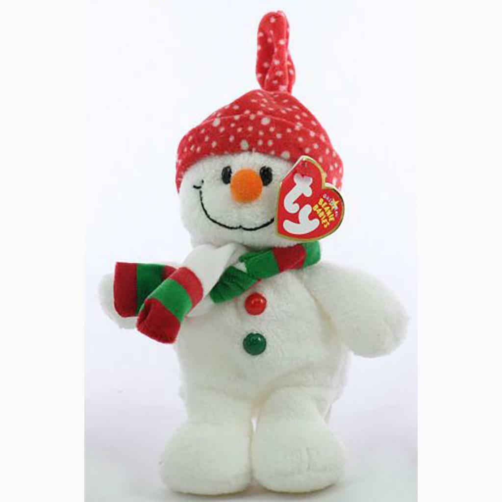 Freezie the Snowman with Hat and Scarf Ty Beanie Baby MWMT Collectible Retired