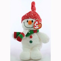 Freezie the Snowman with Hat and Scarf Ty Beanie Baby MWMT Collectible R... - $8.86