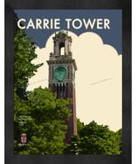 "Brown University ""Carrie Tower"" 13 x 16 Art Deco Framed Print  - $39.95"
