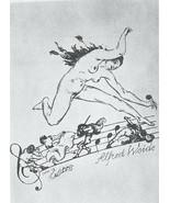 NUDE EX LIBRIS Woman Running on Music Scores - 1922 Lichtdruck Print - $12.60