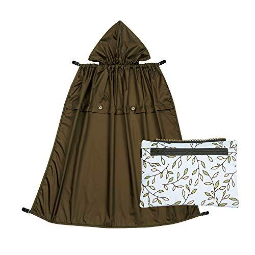 Naforye All-Seasons Rain Cover with Detachable Zippered Pouch (Italian Manor)