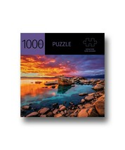 """Sunset Lake Jigsaw Puzzle 1000 pc 27"""" x 20"""" When Complete Durable Fit Piece image 1"""