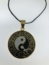 Ying Yang Necklace Golden Stainless Steel - $31.68
