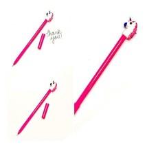 Hot pink unicorn pen / black ink / stationary - $1.56