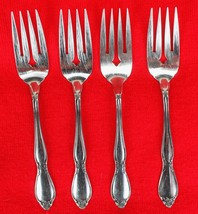 4X Salad / Dessert Forks Oneida Chatelaine Stainless Glossy Flatware 6 1... - $35.64