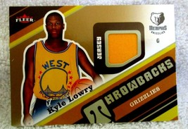 KYLE LOWRY RC 2006-07 FLEER THROWBACK PATCH ROOKIE CARD GEM10?Raptors - $39.59