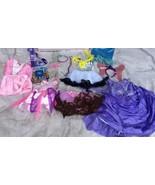 PRINCESS DRESS UP Mix Disney Costume Lot Girls Sz 2/4 2T-4T Pretend - $37.38