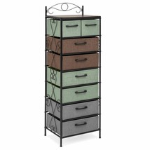 8-Drawer Metal Tower Storage Cabinet Multicolor Room Space Saver Home Or... - $159.97