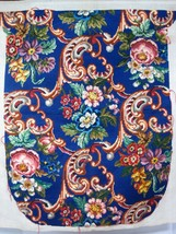 Vintage Needlepoint Chair Cover Floral Pink Rose Blue Background 4PC Wor... - $262.35