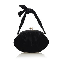 Pre-loved Chanel Black Velour Fabric Handbag Italy - $763.96