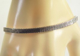MONET Silver Plated Chain Link Bracelet Classic Vintage Estate Career  - $16.82