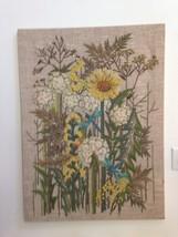 Vintage Beautiful Crewel Embroidery 70's Flower... - $280.50
