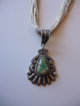 Sterling Silver Turquoise Pendant by Leon Marti... - $275.83